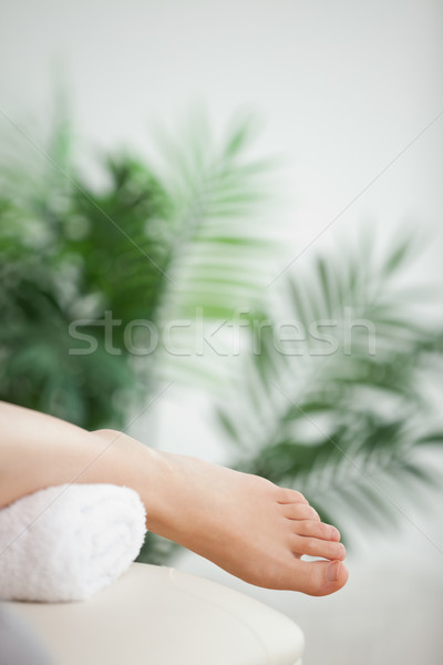 Close-up of a foot placed on a towel in a room  Stock photo © wavebreak_media