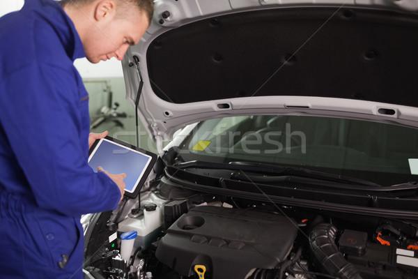Mechanik garaż samochodu metal silnika Zdjęcia stock © wavebreak_media