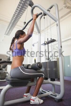 Remo máquina utilizado fitness estudio cuerpo Foto stock © wavebreak_media