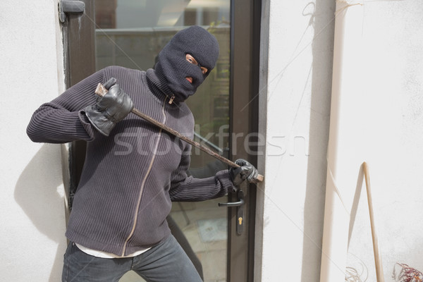 Rover huis Maakt een reservekopie deur kraai bar Stockfoto © wavebreak_media
