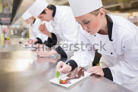 кулинарный класс кухне учитель счастливым Сток-фото © wavebreak_media