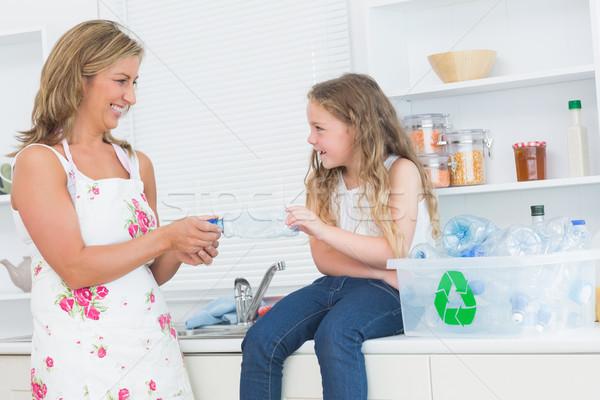 Сток-фото: улыбаясь · матери · отходов · дочь · женщину · девушки