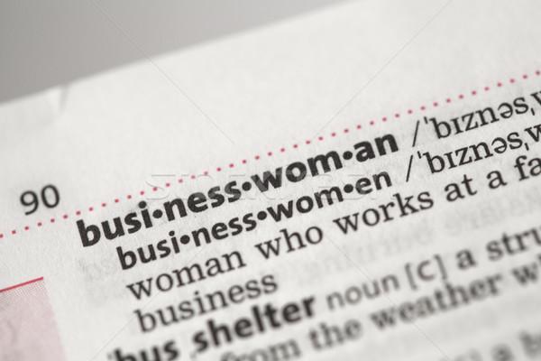 Imprenditrice definizione dizionario donna informazioni conoscenza Foto d'archivio © wavebreak_media