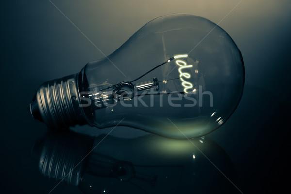 Filament spelling out idea Stock photo © wavebreak_media