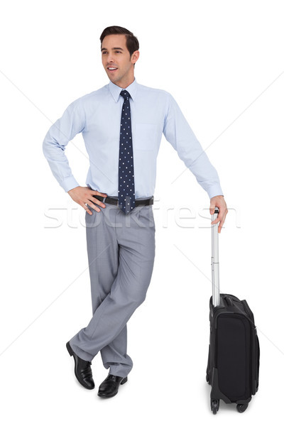 Charismatische zakenman permanente koffer witte corporate Stockfoto © wavebreak_media