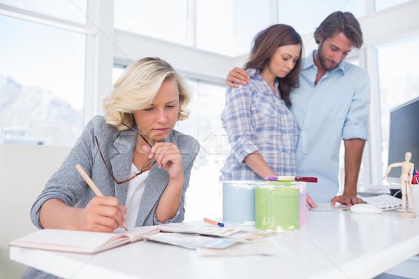 Designer is working in her bright office Stock photo © wavebreak_media