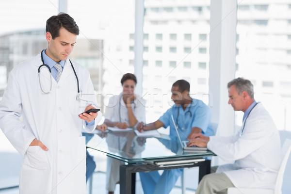 Doktor grup etrafında tablo hastane Stok fotoğraf © wavebreak_media