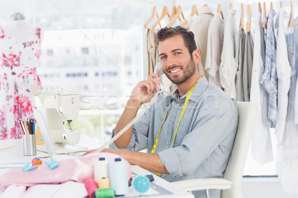 Retrato jovem masculino moda estilista telefone Foto stock © wavebreak_media