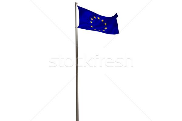 европейский Союза флаг флагшток Сток-фото © wavebreak_media