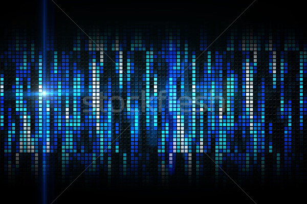Cool Пиксели синий вечеринка энергии цифровой Сток-фото © wavebreak_media