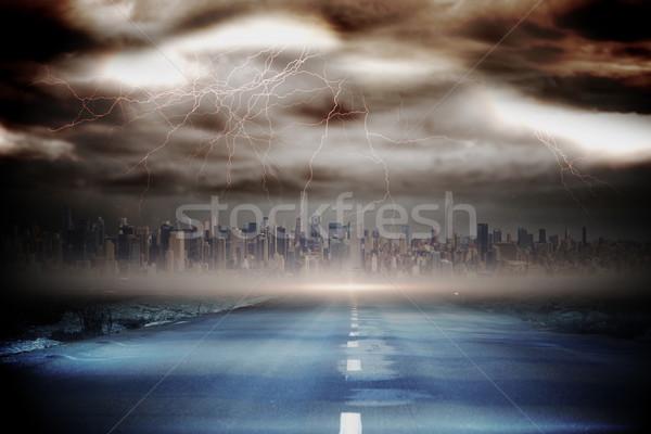 бурный небе торнадо дороги генерируется Сток-фото © wavebreak_media