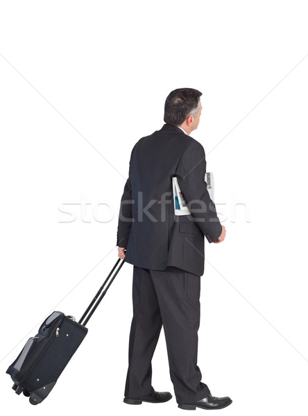 成熟した ビジネスマン スーツケース 白 スーツ ストックフォト © wavebreak_media