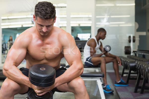 Bonito musculação pesado preto Foto stock © wavebreak_media