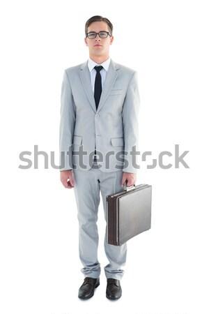 ビジネスマン ブリーフケース 白 ビジネス スーツ ストックフォト © wavebreak_media