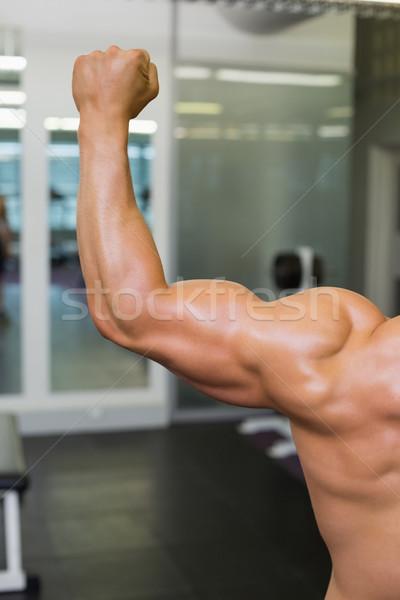 Achteraanzicht gespierd man spieren shirtless Stockfoto © wavebreak_media