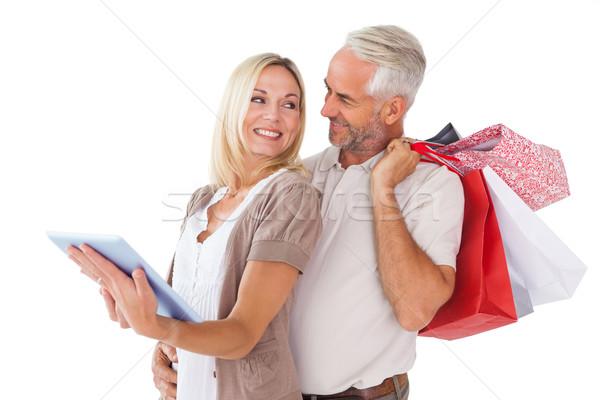 幸せ カップル ショッピングバッグ 見える ストックフォト © wavebreak_media