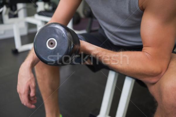 Hombre gimnasio Foto stock © wavebreak_media