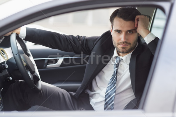 бизнесмен сидят сиденье автомобилей бизнеса дороги Сток-фото © wavebreak_media