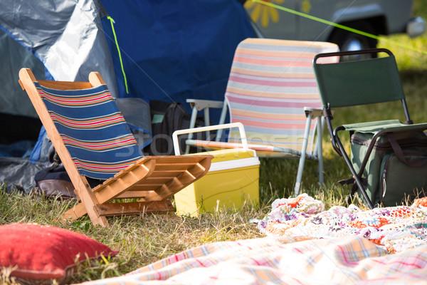 üres táborhely zenei fesztivál napos idő nyár Stock fotó © wavebreak_media