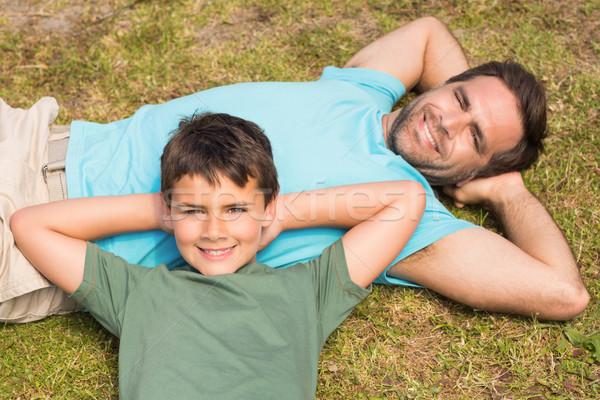 отцом сына человека счастливым ребенка Сток-фото © wavebreak_media