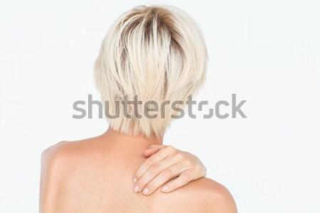 Mulher dor no ombro branco nu saúde músculo Foto stock © wavebreak_media