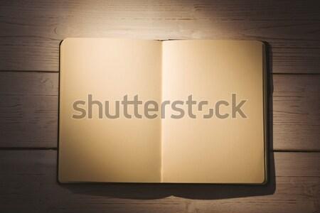 Pusty notatnika biurko działalności biuro tabeli Zdjęcia stock © wavebreak_media