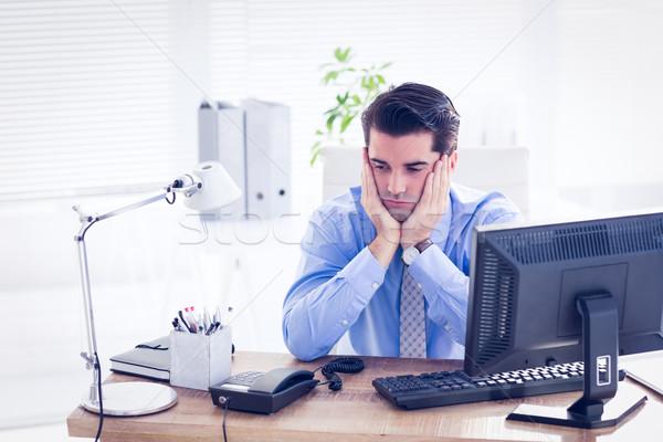 Triste affaires séance bureau bureau homme Photo stock © wavebreak_media