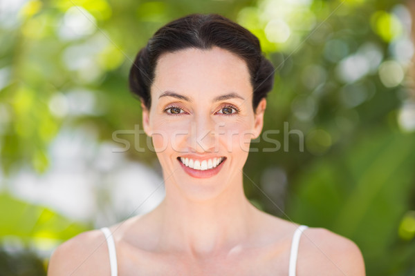 Stock photo:  Portrait of a woman in a meditation position