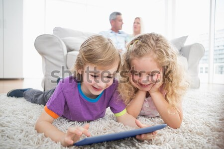 Happy family spending time together Stock photo © wavebreak_media