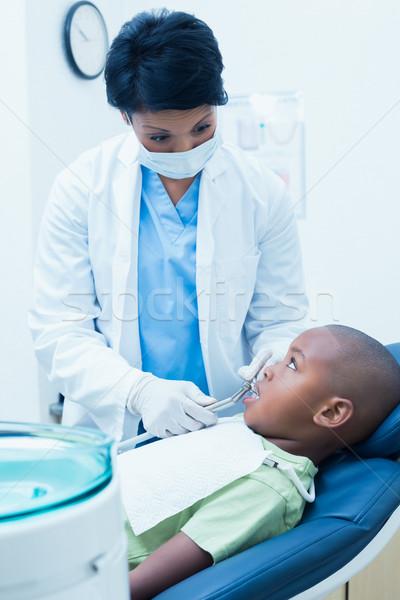 Zdjęcia stock: Kobiet · dentysta · chłopców · zęby