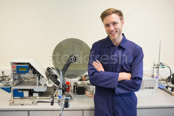 Ingegneria studente sorridere fotocamera Università scuola Foto d'archivio © wavebreak_media