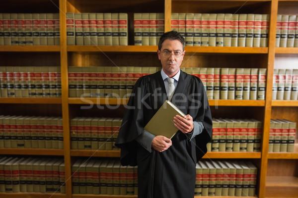 Rechtsanwalt halten Buch Recht Bibliothek Universität Stock foto © wavebreak_media