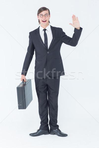 ビジネスマン カメラ 白 ビジネス 幸せ ストックフォト © wavebreak_media