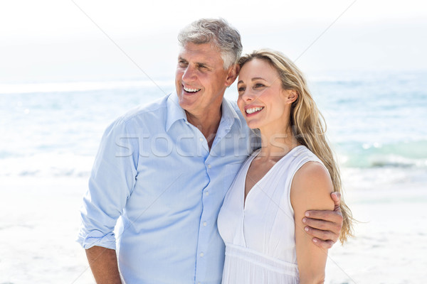 Happy couple standing by the sea Stock photo © wavebreak_media