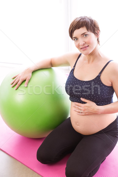 Pregnant woman keeping in shape Stock photo © wavebreak_media