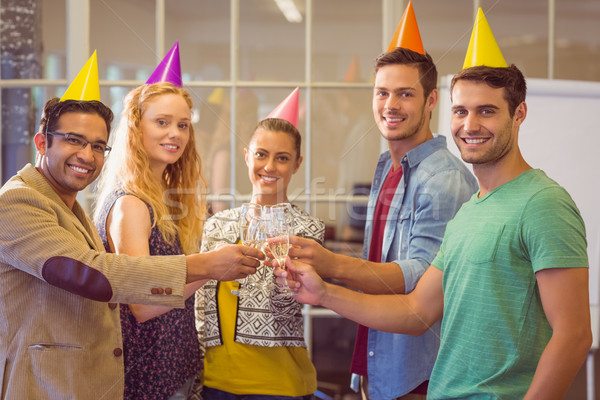 Stock photo: Business people celebrating a birthday