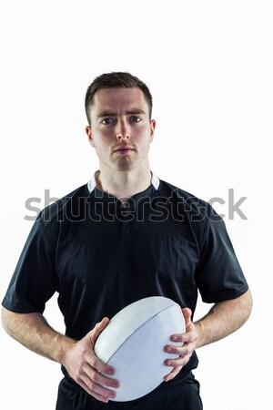 Rugby jogador retrato sorridente Foto stock © wavebreak_media