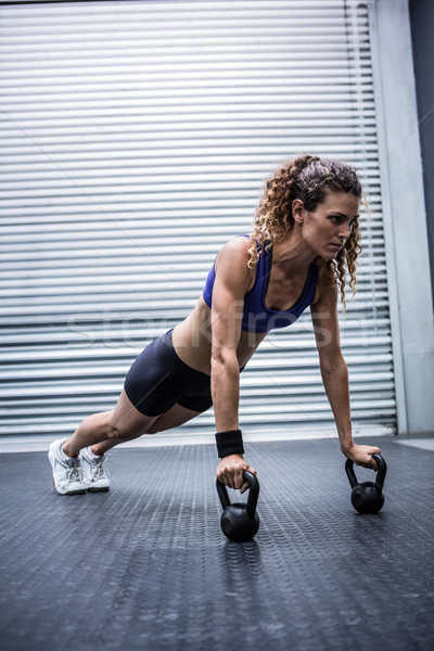 筋肉の 女性 crossfitの ジム 健康 ストックフォト © wavebreak_media