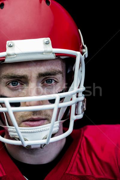 Portré fókuszált amerikai futballista visel sisak Stock fotó © wavebreak_media