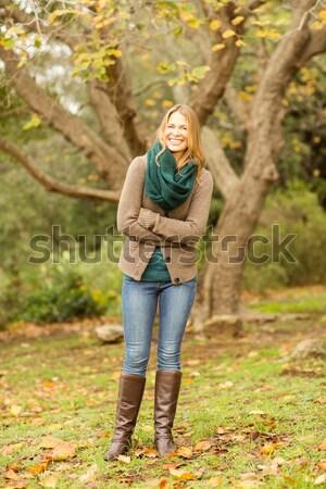 Lány néz látcső erdő kíváncsi gyermek Stock fotó © wavebreak_media