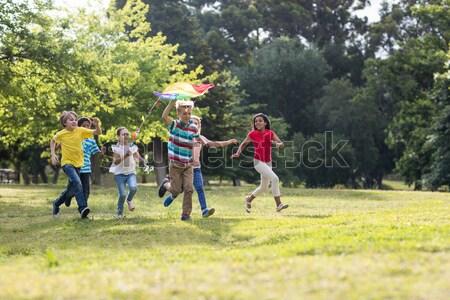 Entraîneur enfants guerre formation démarrage Photo stock © wavebreak_media