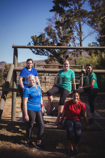 Group of fit women relaxing together in the boot camp Stock photo © wavebreak_media
