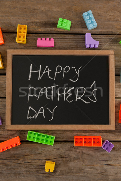 Happy fathers day message written on slate Stock photo © wavebreak_media