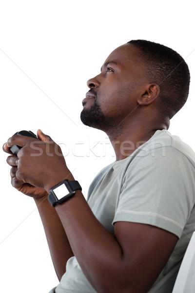 человека играет видеоигра белый технологий Сток-фото © wavebreak_media