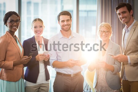Female doctor meditating while holding hands with seniors Stock photo © wavebreak_media
