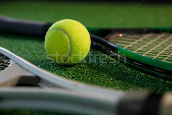 Közelkép teniszlabda üzlet sport természet levél Stock fotó © wavebreak_media