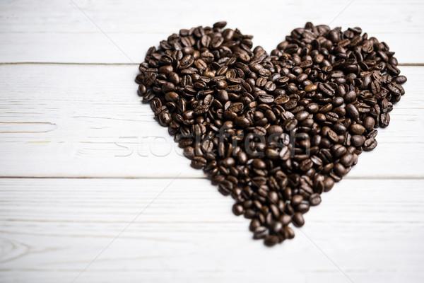 コーヒー豆 表 心臓の形態 ショット スタジオ コーヒー ストックフォト © wavebreak_media