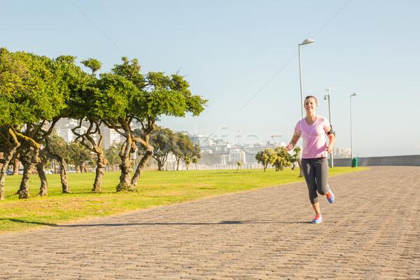 Gericht blond jogging promenade Stockfoto © wavebreak_media