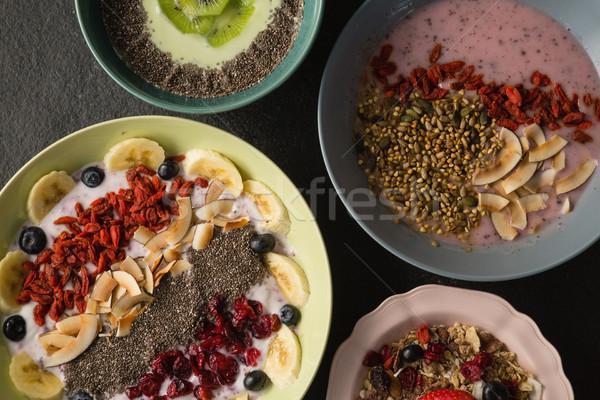 Fruits céréales concrètes papier Photo stock © wavebreak_media