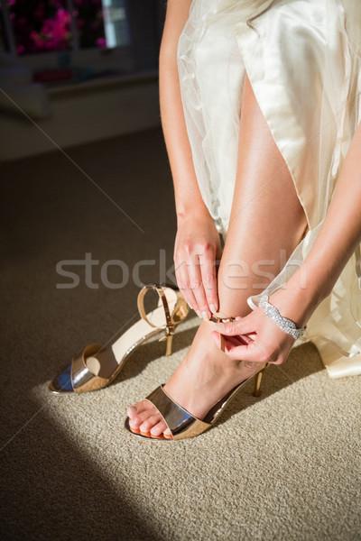 Faible mariée or sandales Photo stock © wavebreak_media